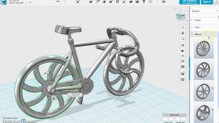 How to design a bicycle using 123D design program