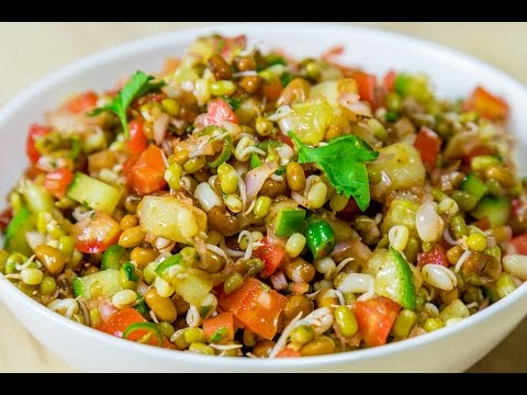 Sprouted Moth Masala Chaat Recipe