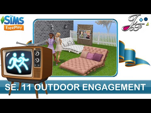Sims FreePlay 📺🥇🏃🏽‍♀️ SIMCHASE 11 | OUTDOOR ENGAGEMENT | 🏕🌤| (Early Access)🔑