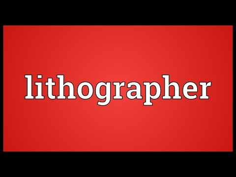 Header of lithographer