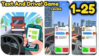 Text And Drive Game All Level 1 - 25 Gameplay Walkthrough   (iOS - Android) screenshot 1