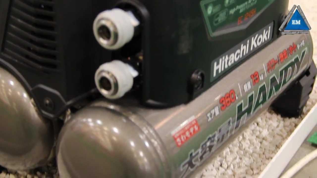 hitachi koki. Компрессор hitachi koki ec12 air compressor