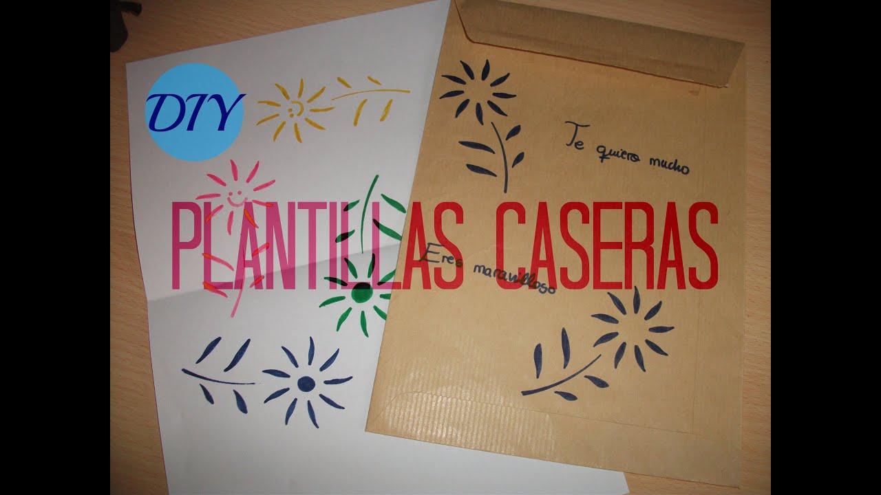 Crea tus propias plantillas caseras f cil y barato - Plantillas para pintar paredes ikea ...