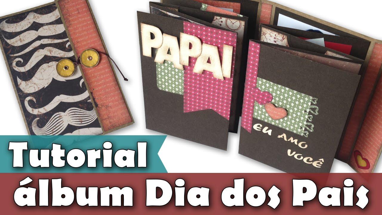 Armario Empotrado Sinonimos ~ Miniálbum Dia dos Pais Tutorial PAP DIY YouTube