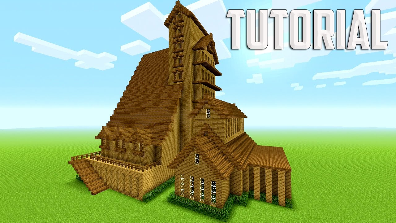 Minecraft Big Survival House Tutorial 28 Images Minecraft Building Tutorial How To Build Big