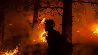 video: Massive US wildfire 'creating its own weather' as it grows to size of Los Angeles