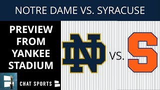 2018 Notre Dame vs Syracuse Football Preview, Point Spread, Game Time, TV Channel + Playoff Odds