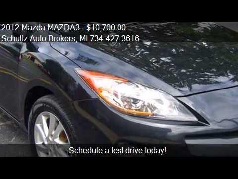2012 Mazda MAZDA3 for sale in Livonia, MI 48150 at the Schul