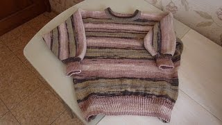 Свитер для начинающих, летучая мышь часть 1/Sweater for beginners, bat part 1