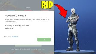 I was banned on Fortnite.. (rip rare account)
