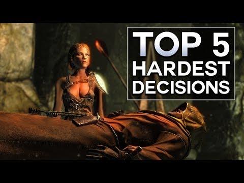 Skyrim - Top 5 Hardest Decisions