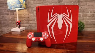 PS4 Slim Spider man Edition Unboxing ( RED LIKE RED )