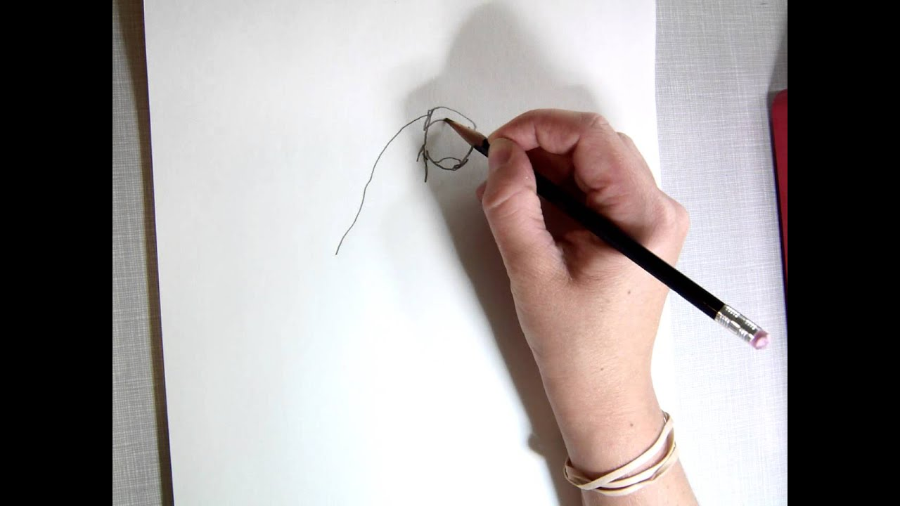 Contour Line Drawing Rose : Contour line drawing demonstration youtube