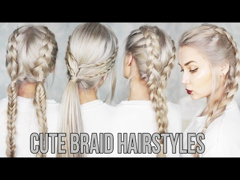3 Cute & Easy Braid Hairstyles