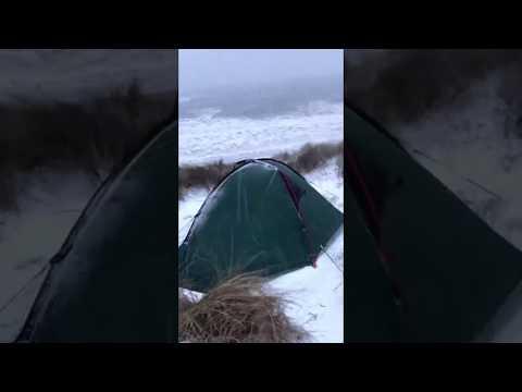 wholesale dealer 5b82e 5497c Helm 1 tent vs 50mph winds and -15 windchill - YouTube