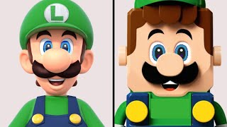 LEGO Super Mario - LEGO Luigi Comparison (Original vs. LEGO)
