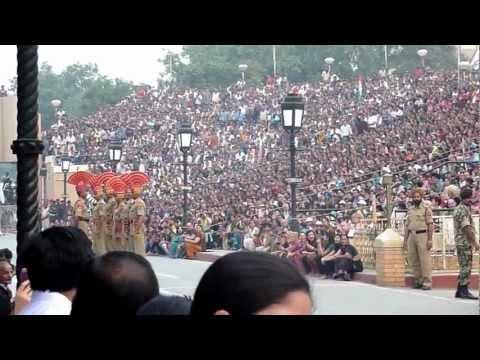 THE WAGAH BORDER, INDIA - PAKISTAN BORDER BETWEEN AMRITSAR AND LAHORE
