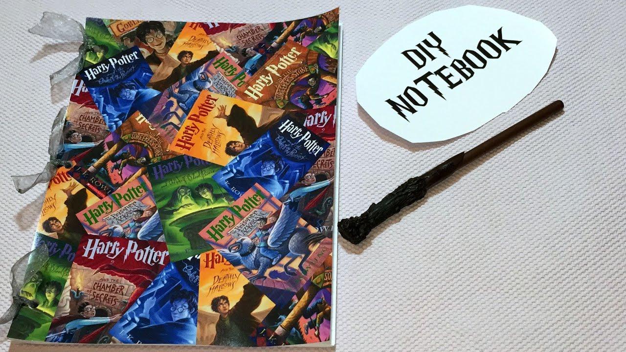 Harry Potter Book Cover Diy : Diy harry potter notebook youtube