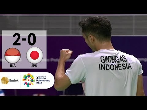 INA v JPN - Badminton Tunggal Putra: Anthony Ginting v Kento Momota | Asian Games 2018