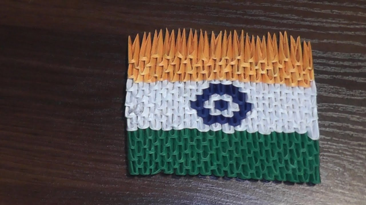 Craft For Flag Of India: 3D Origami Flag Of India (Indian Flag) Tutorial