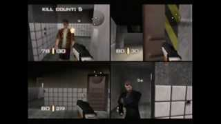 GoldenEye 007 N64 Multiplayer Gameplay Facility Power Weapons
