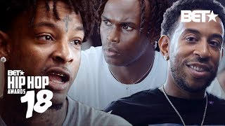 21 Savage, Ludacris, & Julio Jones talk 45 Years of Hip Hop | Hip Hop Awards 2018