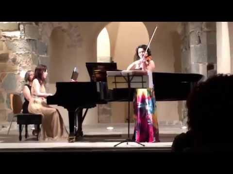 Violin Sonata No.1 in G Major, 1st Mov. by Brahms. Sumiko Tajihi, violin. 多治比純子