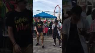 It's just dancing Coney Island tree step getting started