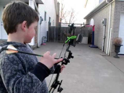 Archery Shooting at 3D deer target.