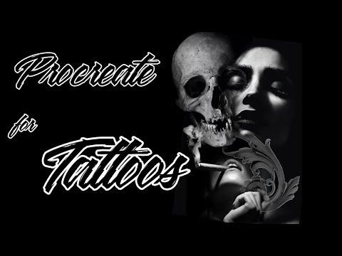 Procreate photo manipulation by tattoo artist on a Ipad pro