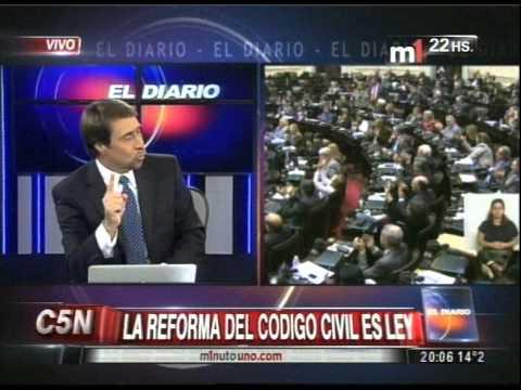 C5N - SOCIEDAD: LA REFORMA DEL CODIGO CIVIL ES LEY