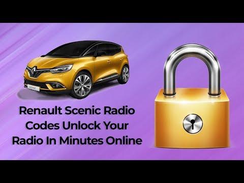 Renault Scenic Radio Code Online Get Your Radio Code In Seconds