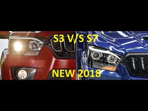 NEW MAHINDRA SCORPIO S3 V/S S7 DIFFERENCES B/W S3 & S7 REVIEW SPECS PRICE DETAILS EXTERIOR FEATURE