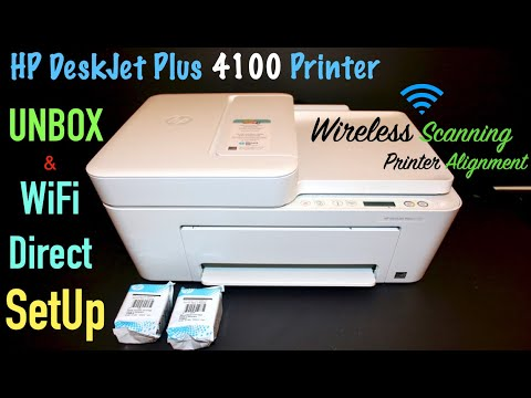 HP DeskJet Plus 4100, Unbox, SetUp, Wireless Scanning Tutorial, SetUp Ink, Alignment !!