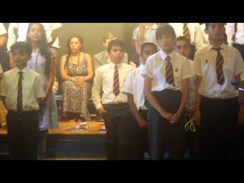 Ayaan's farewell assembly at Kings road School.