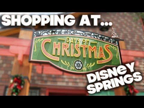 SHOPPING AT - DISNEY DAYS OF CHRISTMAS STORE - DISNEY SPRINGS