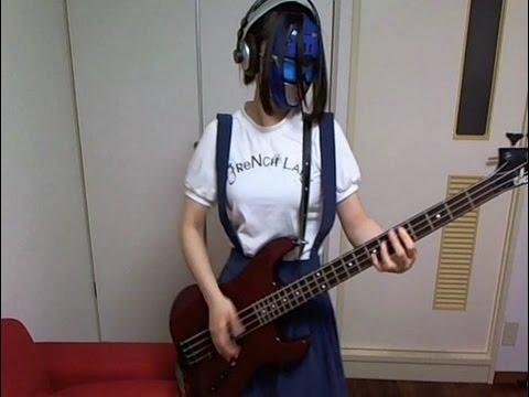 【教室外】イノコリ先生をベースで弾いてみた【視線痛い】 ←old!