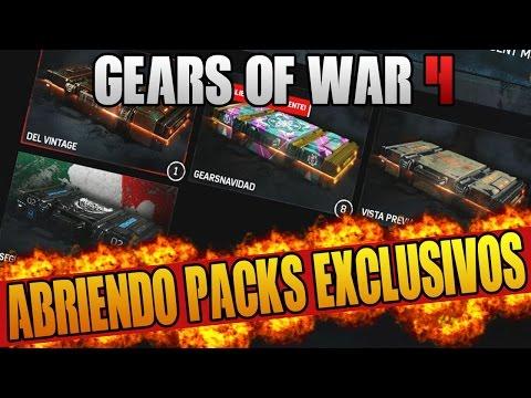 ABRIENDO PACKS EXCLUSIVOS!! GEARS OF WAR 4   PACKS URI   PACKS MEXICO CITY   PACKS NAVIDEÑO