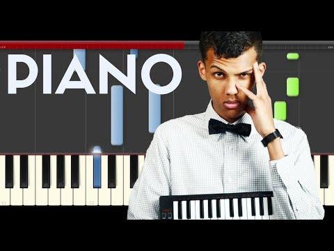 Stromae Tous Les Memes Piano Midi Tutorial Sheet Partitura