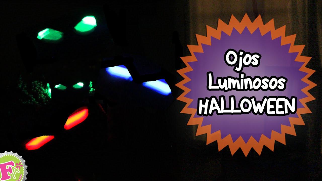 Ojos luminosos decoraci n para halloween youtube - Decoracion de halloween ...