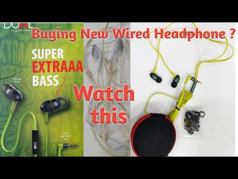 BOAT BASSHEADS 225 WIRED EARPHONES WITH SUPER EXTRA BASS | TANGLE-FREE CABLE #review #Detailsinfo
