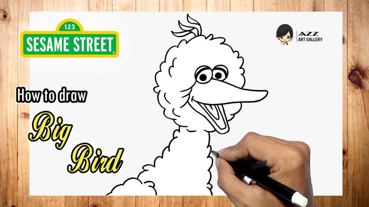 How To Draw Big Bird From Sesame Street