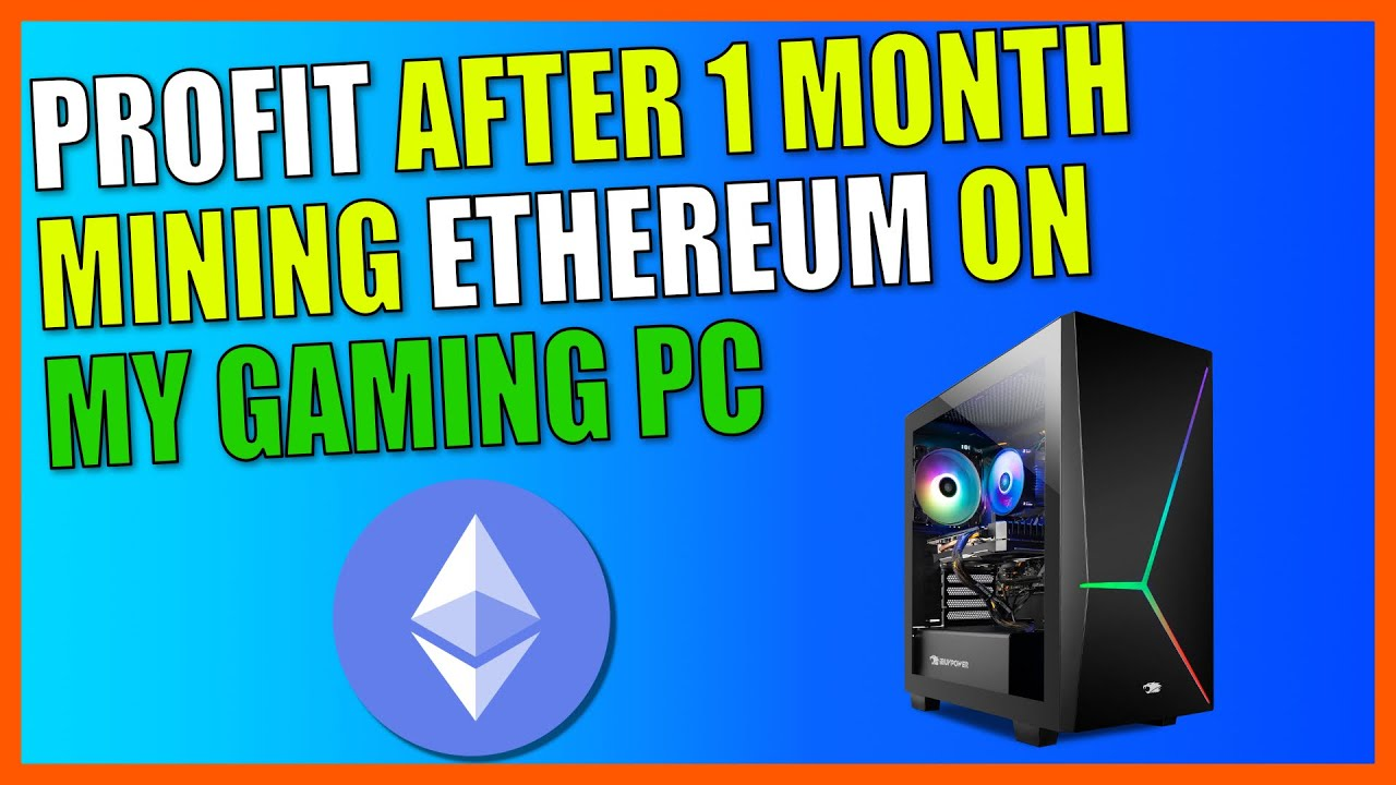 Profit After 1 Month Mining Ethereum ETH On My Gaming PC | Crypto Mining