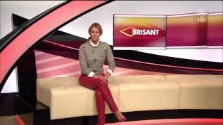 Repeat youtube video Mareile Höppner - Brisant HD - 28.01.2015 - Grey Blouse, Red Tight Leather Pants & Red Heels