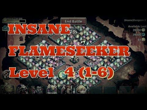 Castle Clash Insane Flameseeker Level 4 (1-6)! Insane Dungeons!