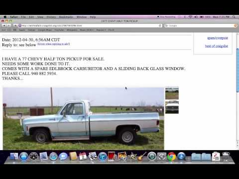 Craigslist Wichita Falls Texas - Used Vehicles Under $800 Available for Parts