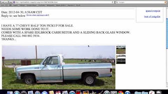 Craigslist Texas Used Cars for Sale by Owner - YouTube