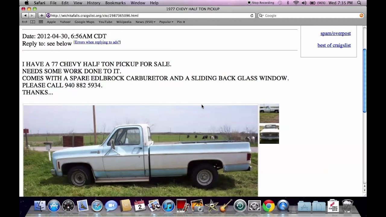 Craigslist wichita falls texas used vehicles under 800 available for parts youtube