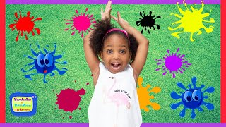 Learning Colors with Kamdenboy and Kyraboo | KB Family Fun Game of Dodgeball