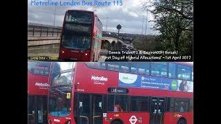london with rosalina route 113 update thrash hybrid thrash lk08 dxv lk60 ahv 1st apr 2017